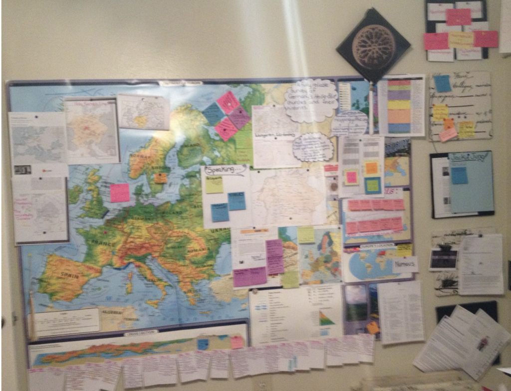 Paper map created at home 2013-2015